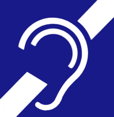 deafness and hard of hearing symbol