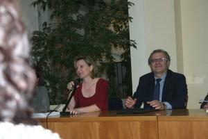 L'autrice e il presidente Catarra