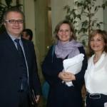 Il presidente Catarra con l'autrice del libro e la consigliera di parità Anna Pompili