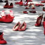 red shoes against violence on women