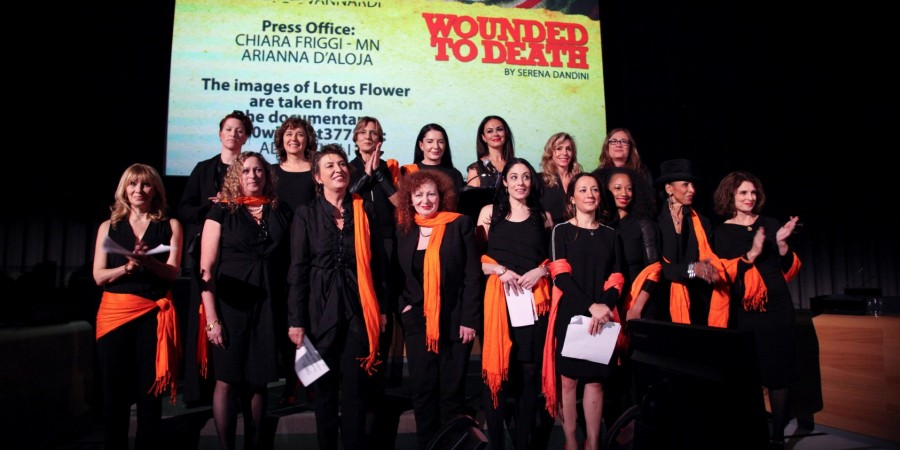 ''Wounded to Death'' by and with Serena Dandini on stage in Luxembourg on March 24