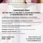 Conférence-débat sur la violence faite aux femmes