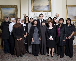 Picture of members of the NMWAG with Prime Minister Gordon Brown and Communities Secretary, Hazel Blears at 10 Downing Street on 21 November 2007 for the launch event of the group.  Photo Credits: Shaista Gohir/ Muslim Women's Network UK