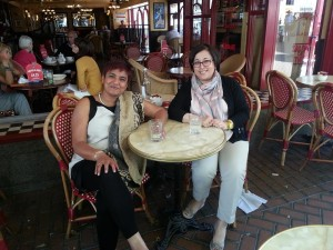 BTCUK founder Siddika Ahmed and Time for Equality founder Rosa Brignone exchanging views in Birmingham, UK, July 2014