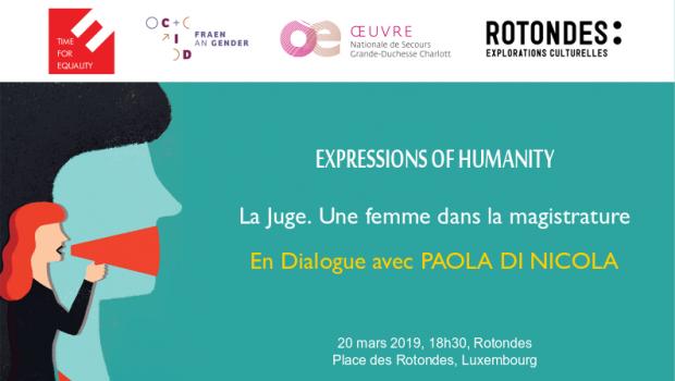 Une femme dans la magistrature – En dialogue avec Paola Di Nicola, 20 mars